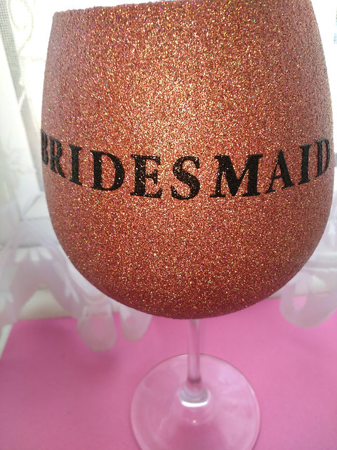 Bridesmaid wine glasses