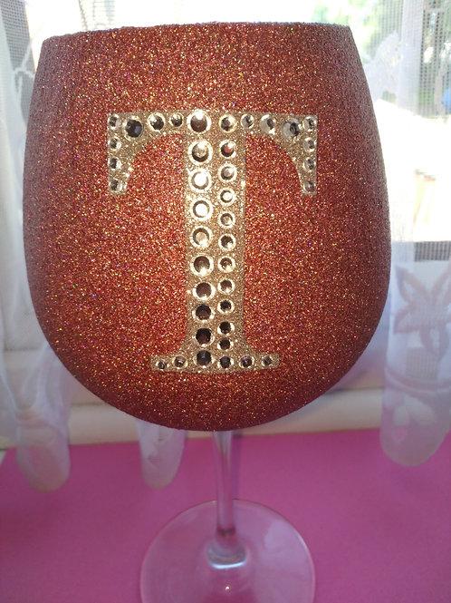 Diamante large wine glasses