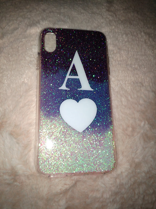 Personalised initial glitter phone cases