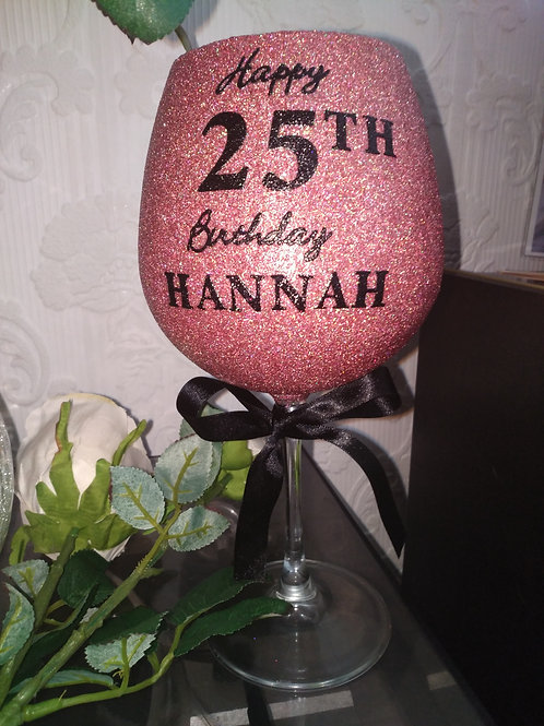 Personalised large wine glasses