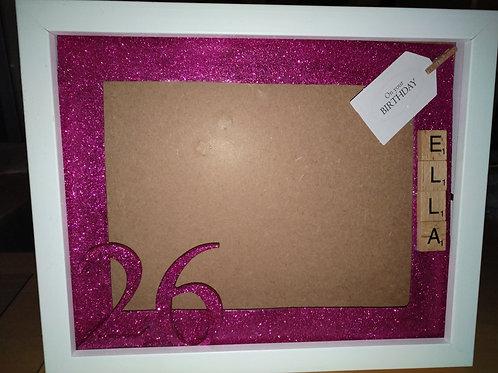 Personalised glitter photo frame