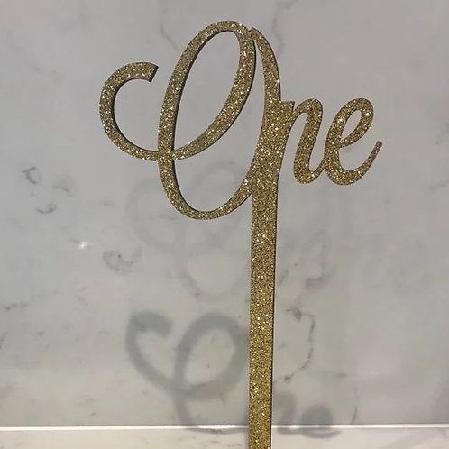 Decorative glitter words table numbers set