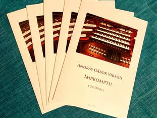 Megjelent Németországban Virágh András Gábor felkérésemre komponált orgonaműve