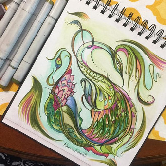 Finished another fun 8_x8_ Copic Illustr