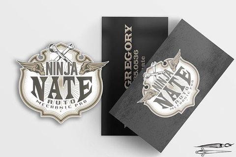 Ninja Nate Mechanic Extraordinar Logo an
