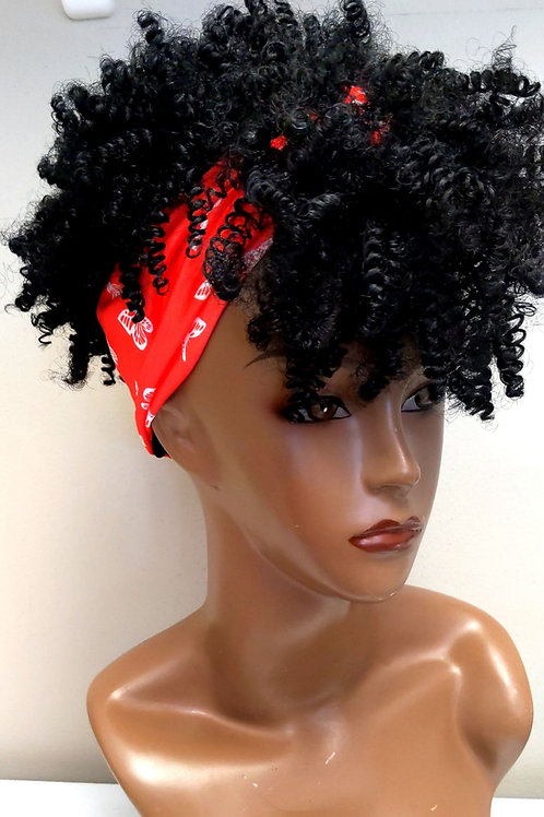Tightly Coiled Headband Wig