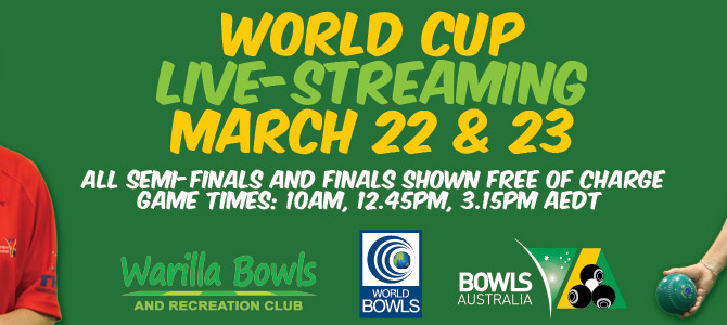 WORLD CUP BOWLS IN NEW SOUTH WALES