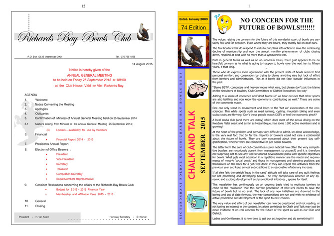 Richards Bay Newsletter