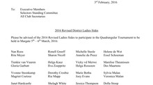 2016 REVISED DISTRICT LADIES SIDES