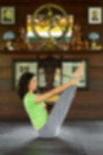 Profª. Anjali praticando Yoga
