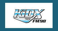 an eye-catching logon for a radio station's call letters