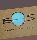 an earthy looking logo design for eos recycling depot