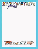 happy feet of fair goers across the top of the letterhead remind readers how fun MontanaFair is