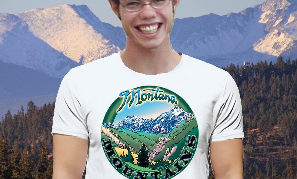 Montana Mountains T Shirt larger design