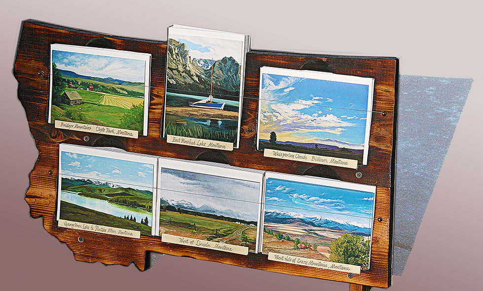 72 Card Montana Scenic Notecards and Free Rack