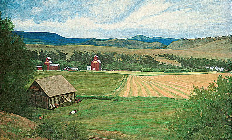 "Bridger Mountains at Clyde Park    Montana Scenic Notecard    6.125"" x 4.5"""