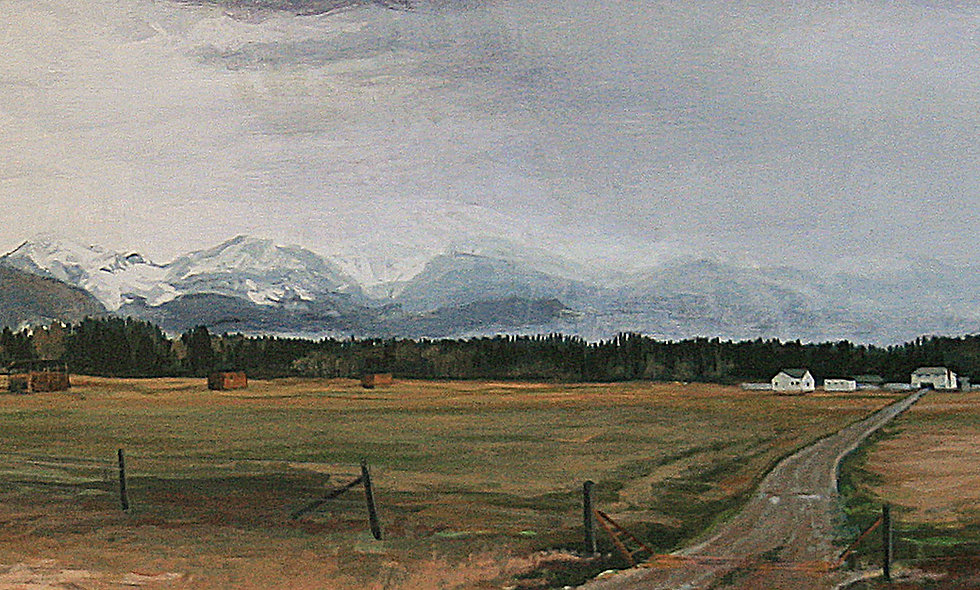 Highway 200 scene west of Lincoln,  Montana Scenic Notecard    6.125""