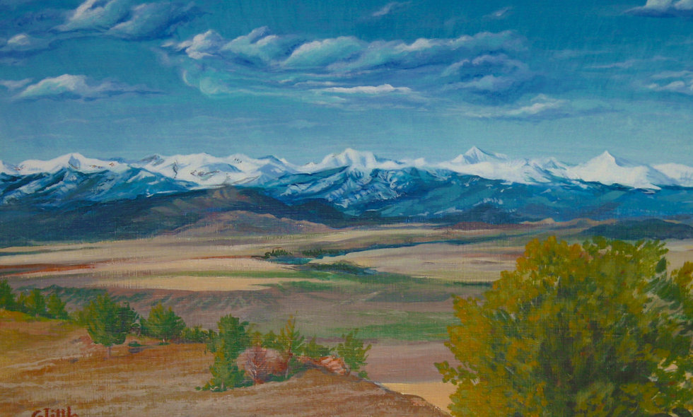 "Westside of Crazy Mountains    Montana Scenic Notecard    6.125"" x 4.5"""
