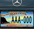 Billings specialty license plate design