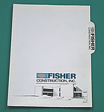 construction company folder design