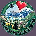 i love montana mountains tshirt design