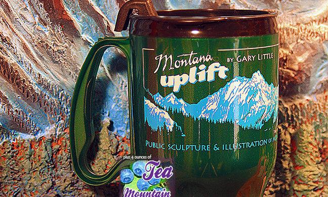 Montana Uplift Green Thermal lightweight travel Mug with Mtn. Huckleberry Tea