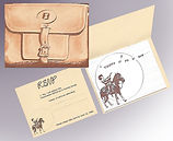saddle bag theme invite for a bank party
