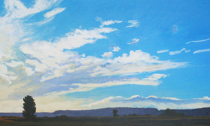 "Whispering Clouds in Billings Sunset  Montana Scenic Notecard    6.125"" x 4"