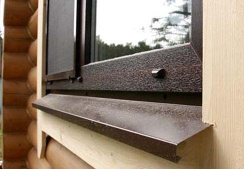 отлив коричневый частный дом