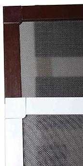 белая и коричневая москитная сетка