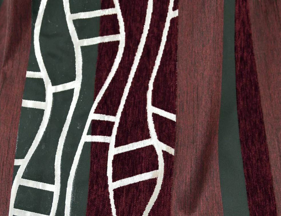 Шторная ткань полоска 002