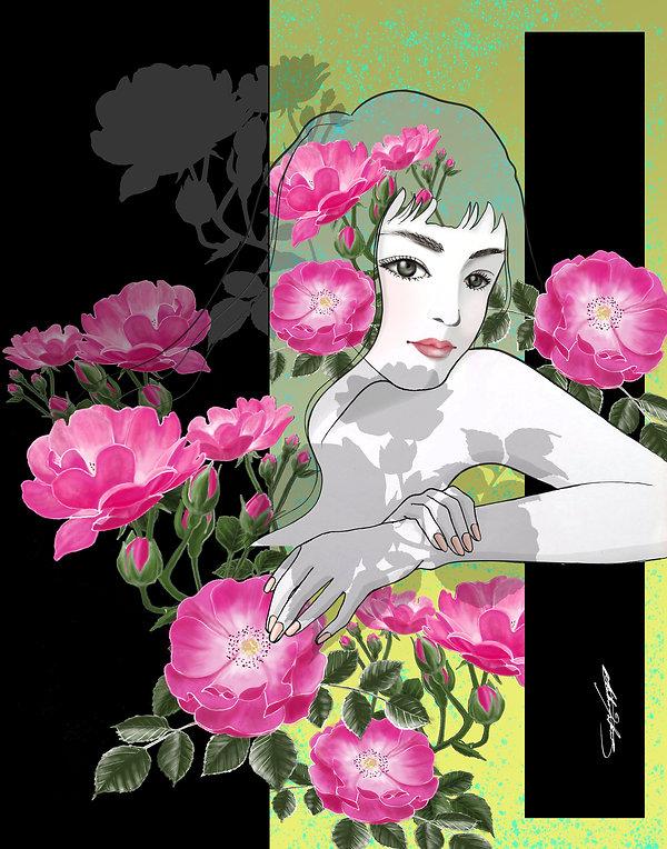 Angela_Pink Roses-Rescheled Redid 11x14_