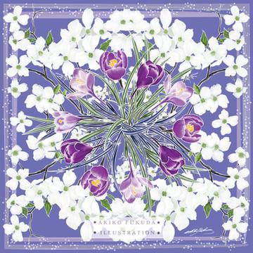 Spring Awakening - Silk Scarf