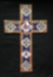 Blue enamel cross