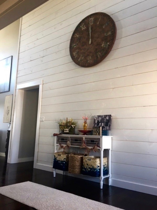 White Painted Shiplap
