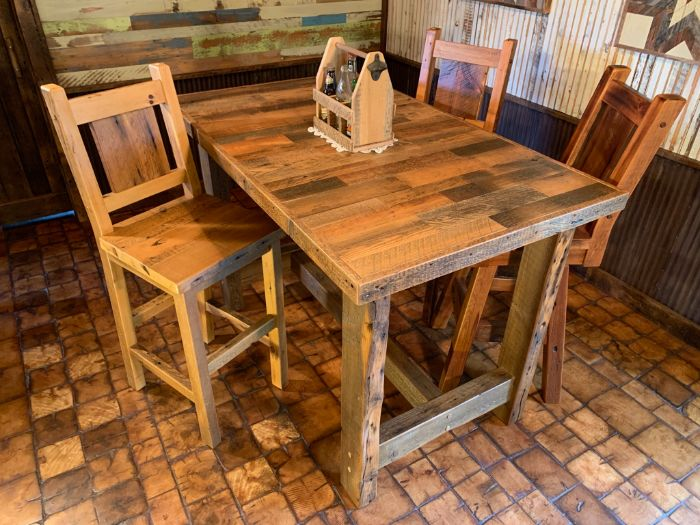 Skip Planed Pub Table Set