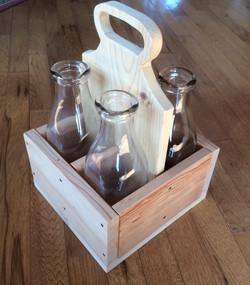Reclaimed Wood Jar Carrier