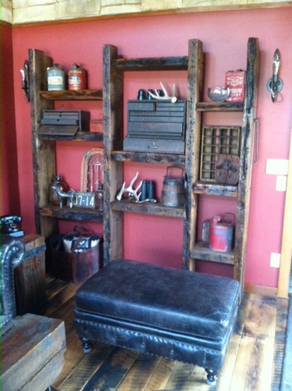 Barn Beam Wall Shelves