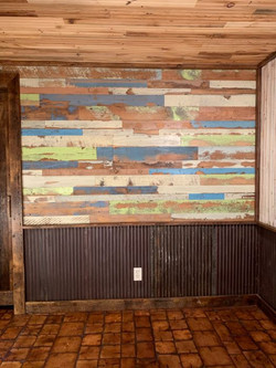 Mixed Color Skip Planed Accent Wall