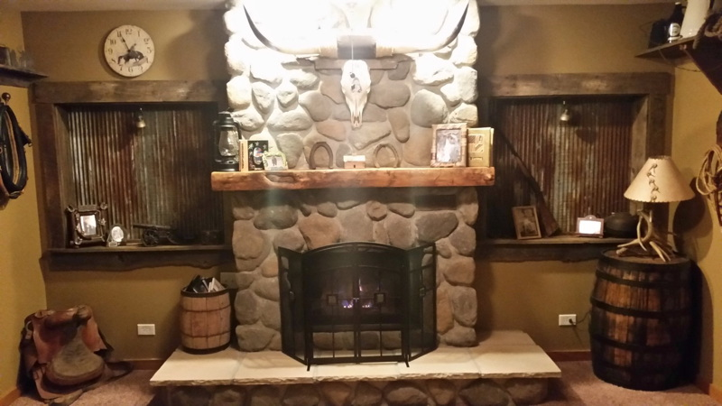Reclaimed Barn Beam Fireplace Mantle