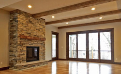 Reclaimed Beam Accented Mantle