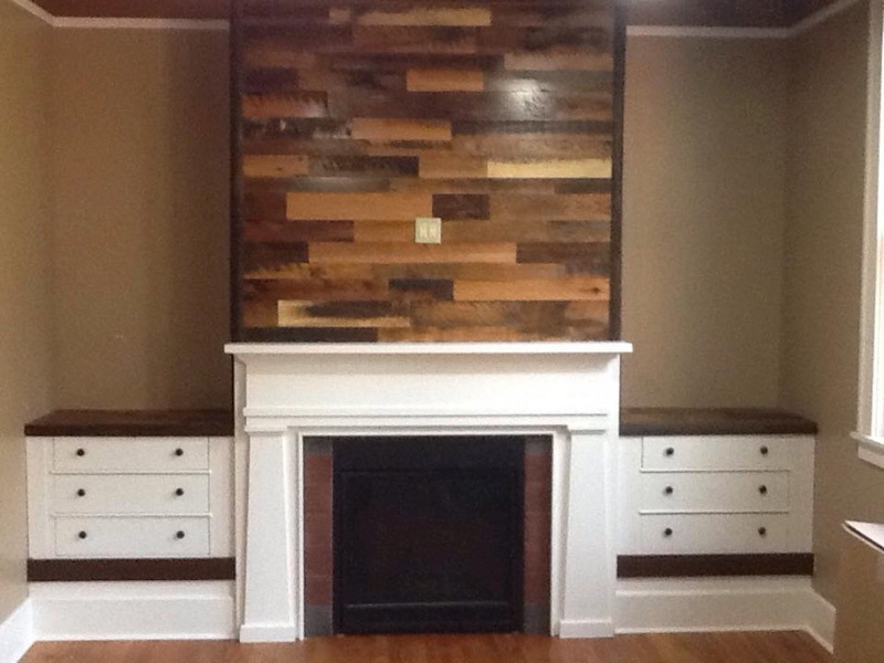 Skip planed accent wall