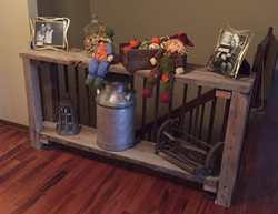 Reclaimed Wood Beam Side Table