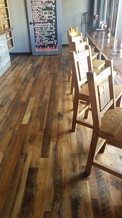 Reclaimed Floor and High Top Chair