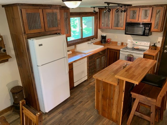 Reclaimed Cabinets and Countertops