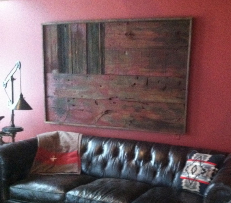 Barn Board Wall Flag