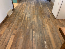 Reclaimed Skip Planed Wood Flooring