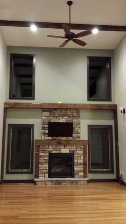 Barn Beam Mantle and Wall Accent