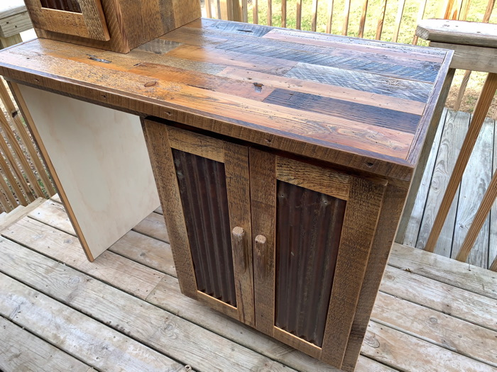 Reclaimed barnwood wet bar