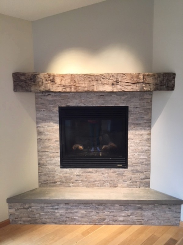 Reclaimed Wood Accent Fireplace Mant